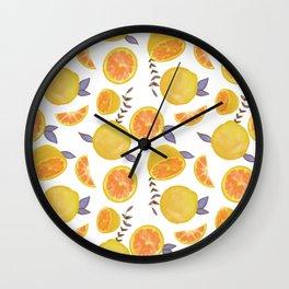 Grapefruit Orange Palette Wall Clock