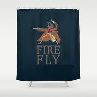 firefly Shower Curtains featuring Firefly by Evan Raynor
