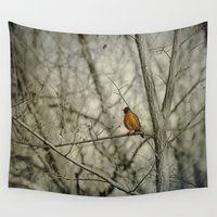 robin Wall Tapestries featuring Robin by Dorothy Pinder