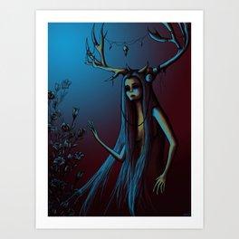 Horned One Art Print