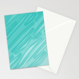 Bahama Blue Line Art, Variable Opacity Color Study – 5  Stationery Cards