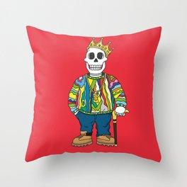 Biggie Skulls Throw Pillow