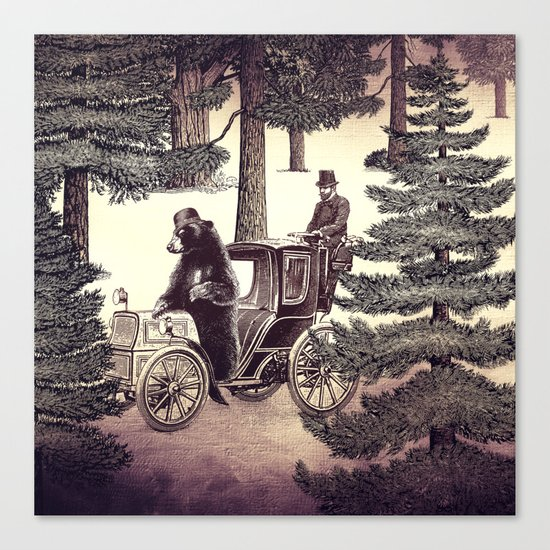 Two Gentlemen in the Forest Canvas Print