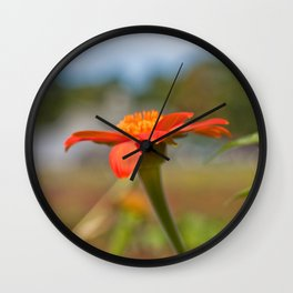 September Flowers Wall Clock