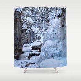 Icewalk in Maligne Canyon, Canada Shower Curtain