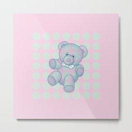 Snoozy – the Little Teddy Bear Metal Print