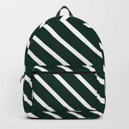 Deep Forest Diagonal Stripes Backpack