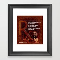 Depression or the Pain - 111 Framed Art Print
