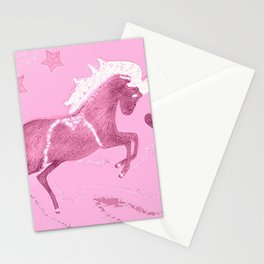 Unicorn in pink Stationery Cards