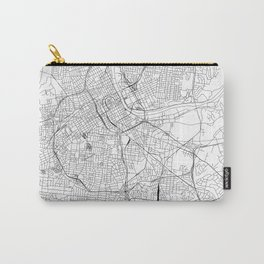 Nashville White Map Carry-All Pouch