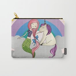 Mermaid-Unicorn Carry-All Pouch