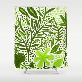 Garden – Lime Green Palette Shower Curtain
