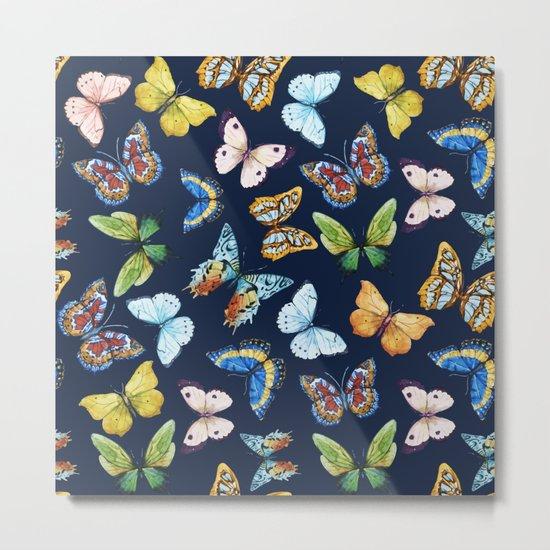 Butterfly Pattern 03 Metal Print