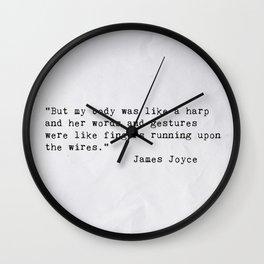 James Joyce Love Quote Wall Clock