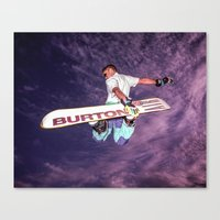 snowboarding Canvas Prints featuring Snowboarding #2 by Bruce Stanfield