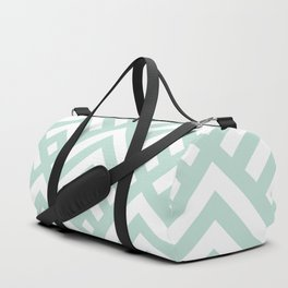 Turquoise Blue geometric art deco diamond pattern Duffle Bag