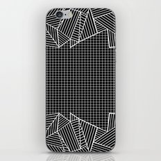 Grids And Stripes Black iPhone & iPod Skin