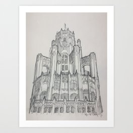Chicago - Tribune Tower Art Print