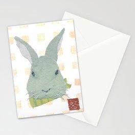 Bunny, Rabbit, Gray, Modern Stationery Cards