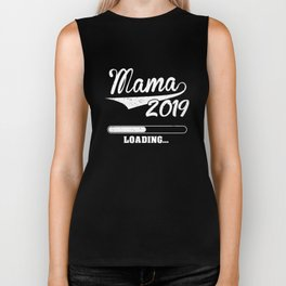 Promoted to Mama Est 2019 Becoming Mother Gift Biker Tank