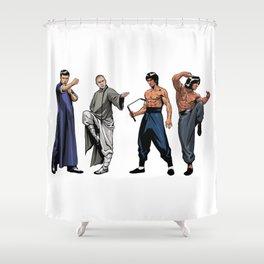 Kung Fu Legends Shower Curtain