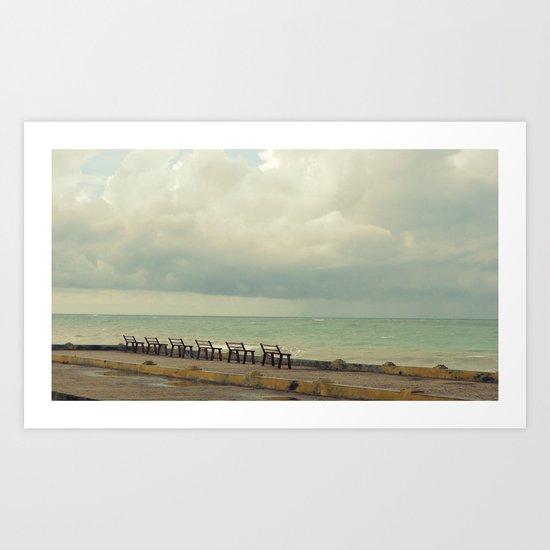 The Rain and The Sea Art Print