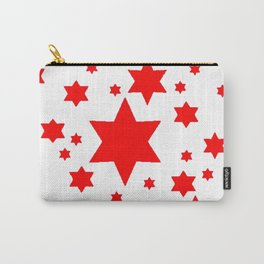 JULY 4TH  RED STARS DECORATIVE DESIGN Carry-All Pouch