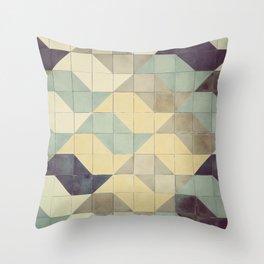 São Paulo Tile Pattern Throw Pillow