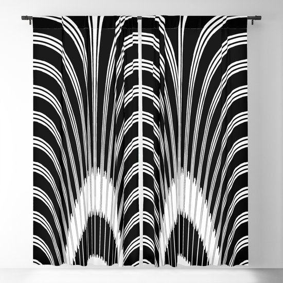 Black and White Geometric Arches by patriciannek