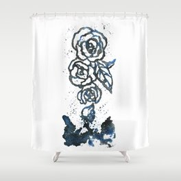 Galaxy Roses Shower Curtain