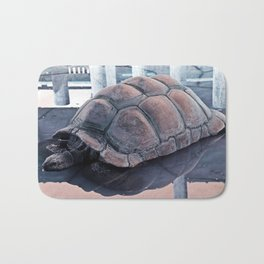 Tortoise Fair in the Pond's Mirror Glare Bath Mat