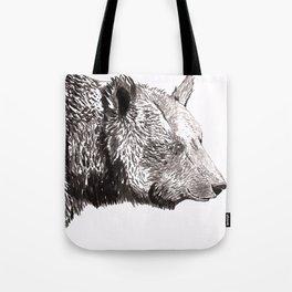 Bear Ink Drawing Tote Bag