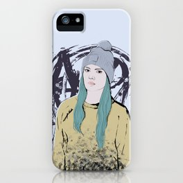 Graffiti Girl iPhone Case