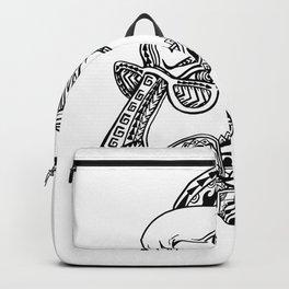 Goat Cigar Tribal Tattoo Style Backpack