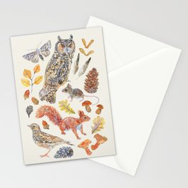 Autumn Wildlife - Neutral Stationery Cards