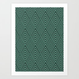 Triangle in Diamonds. Art Print