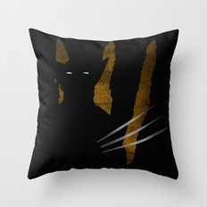 SuperHeroes Shadows : Wolverine Throw Pillow