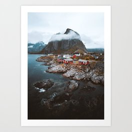 Hamnoy Village Art Print