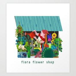 FLORAFLOWERSHOP Art Print