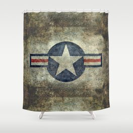 USAF vintage retro style roundel Shower Curtain