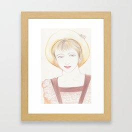 picnic girl Framed Art Print