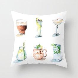 Cocktail season! Throw Pillow