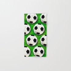 Soccer Ball Football Pattern Hand & Bath Towel
