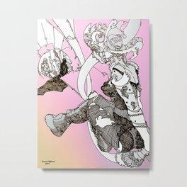 Technical Colour [Pen Drawing Figure Illustration] Metal Print