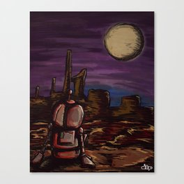Lonely Robot Canvas Print