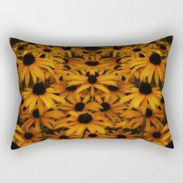 Black-Eyed Susan, yellow autumn daisy Rectangular Pillow