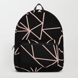 Abstract geometric pink black modern shapes pattern Backpack