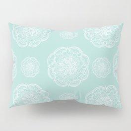 Mint Romantic Flower Mandala Pattern #2 #decor #art #society6 Pillow Sham