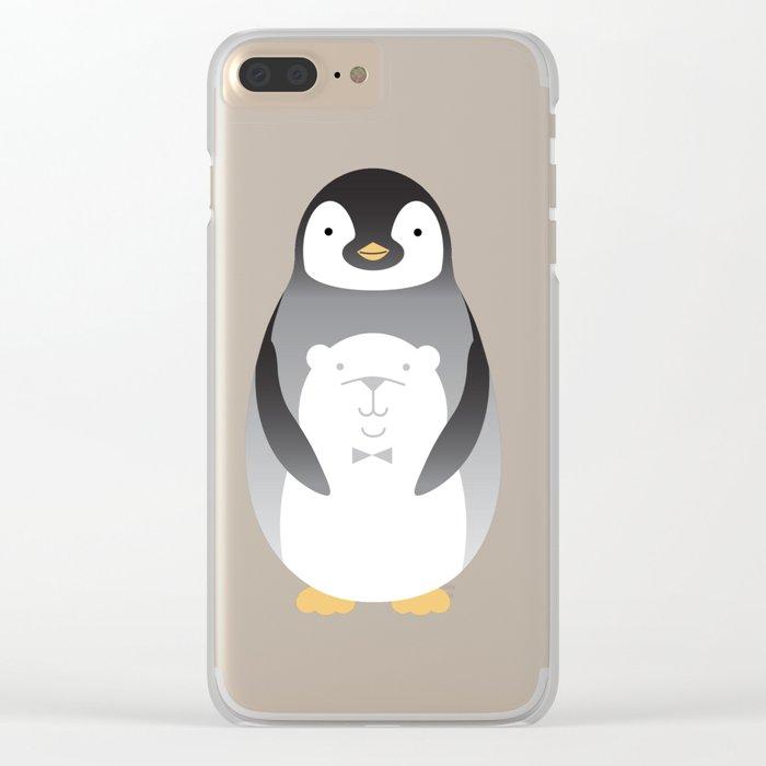 My belly is a polar bear 2 Clear iPhone Case