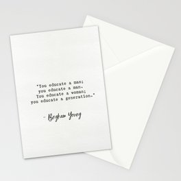 Brigham Young quote Stationery Cards